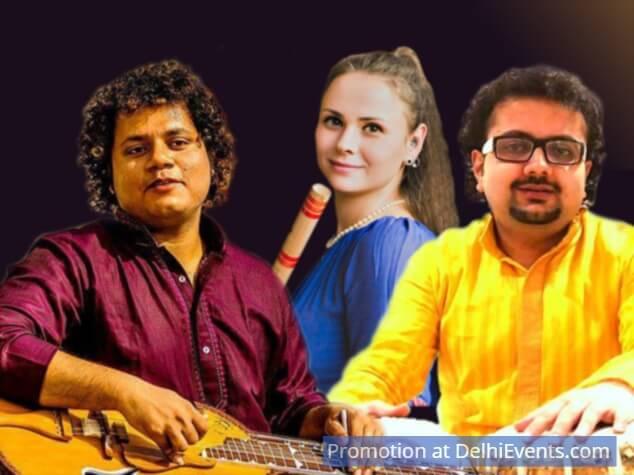 Musicians Siddhartha Banerjee Classical Guitar Siddha Veena Asya Shivaya Flute Sourabh Goho Tabla