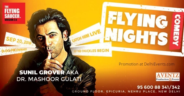 Sunil Grover Dr. Mashoor Gulati Flying Saucer Cafe Creative