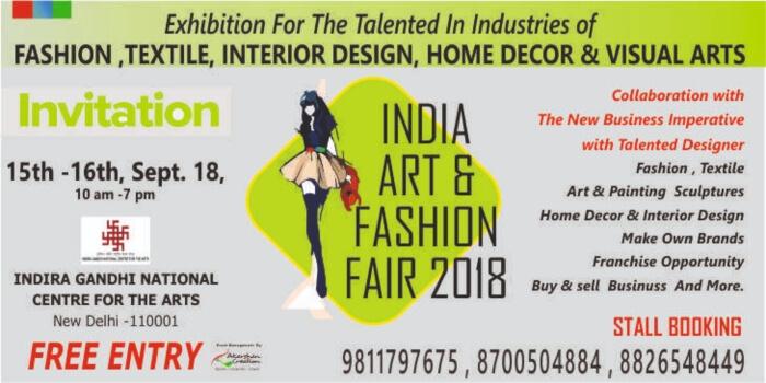 India Art Fashion Fair 2018 IGNCA Creative