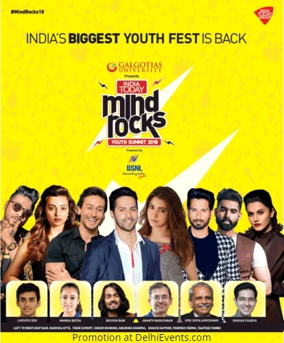 India Today Mind Rocks Youth Summit 2018 Creative
