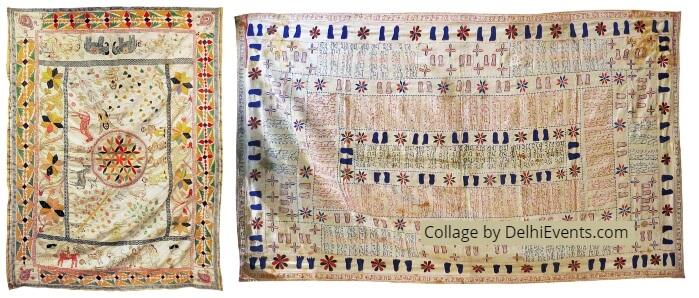 MATI Kantha Rural Art Bengal group show folk art depicted textiles Art Konsult Exhibition Artworks
