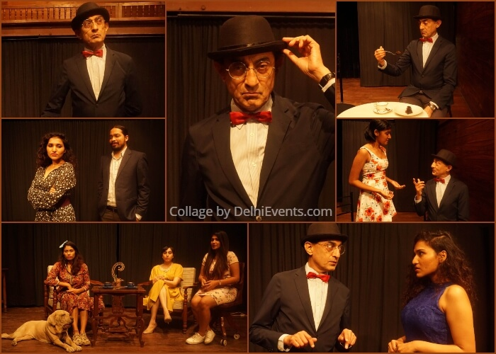 Mystery Three Quarters Hercule Poirot English Play Akshara Theatre Stills