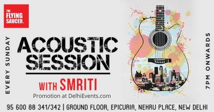 Acoustic Session Smriti Flying Saucer Cafe Creative