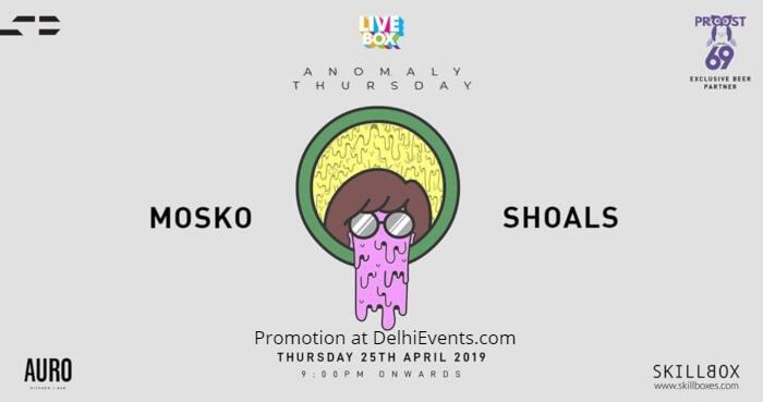 Anomaly Thursdays Livebox MOSKO Shoals Auro Kitchen Bar Creative
