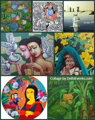 Anthology collection artworks young talent Chawla Art Gallery Exhibition Artworks