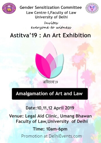 Astitva 2019 art show dialogue Gender Sensitization Dimensional Approach Law Faculty Creative