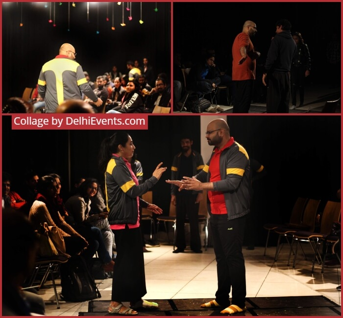 Kaivalya Plays Unravel Improv Show Rehearsal Stills