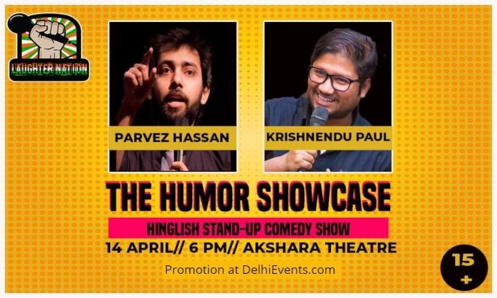 Laughter Nation Humor Showcase 29 Hinglish Standup Parvez Hassan Krishnendu Paul Akshara Theatre Creative