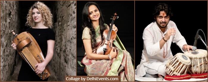Musicians Eleonore Fourniau Nandini Shankar Abhishek Mishra