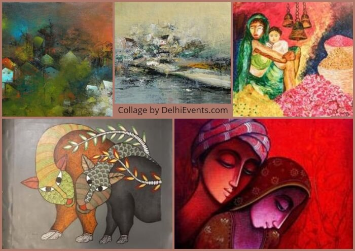 Navya Naveli group show Timeless affordable art six artists Artworks