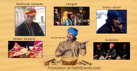 ShowCase events Sounds Desert Rajasthani Folk Musicians