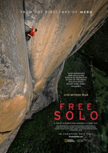 Free Solo sports documentary film Poster