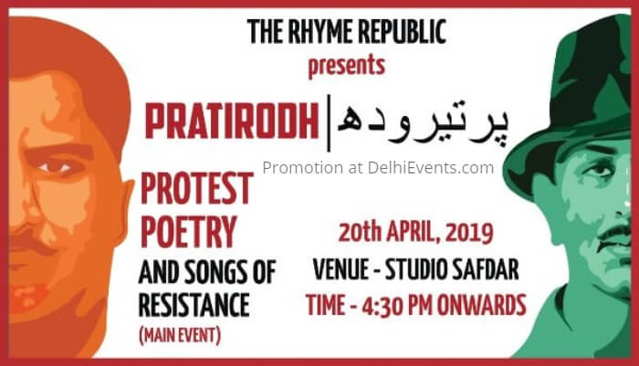 Rhyme Republic Pratirodh Protest Poetry Songs Resistance Studio Safdar Creative