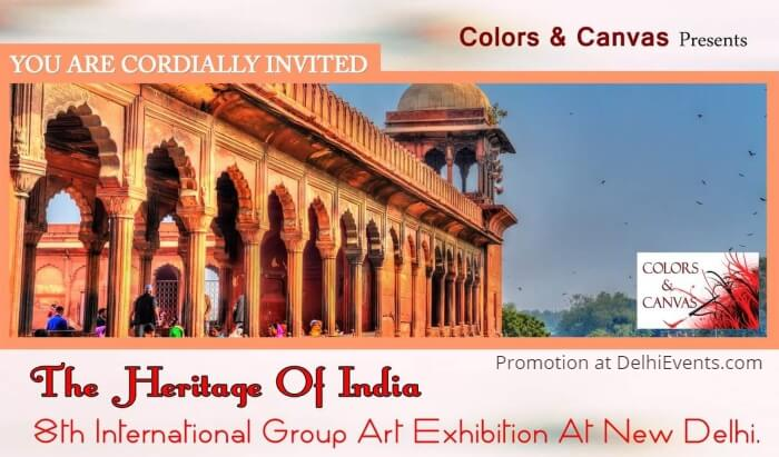 Colors Canvas Heritage India 8th International Group Art Show Gandhi Art Gallery Creative