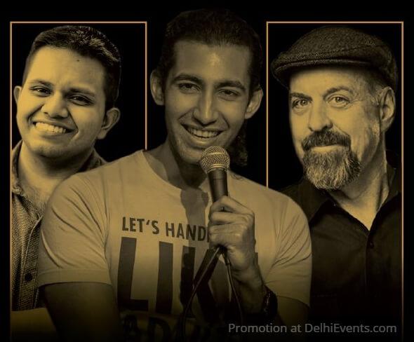 Comedians Vinayak Pal Aadar Malik Jim McCue