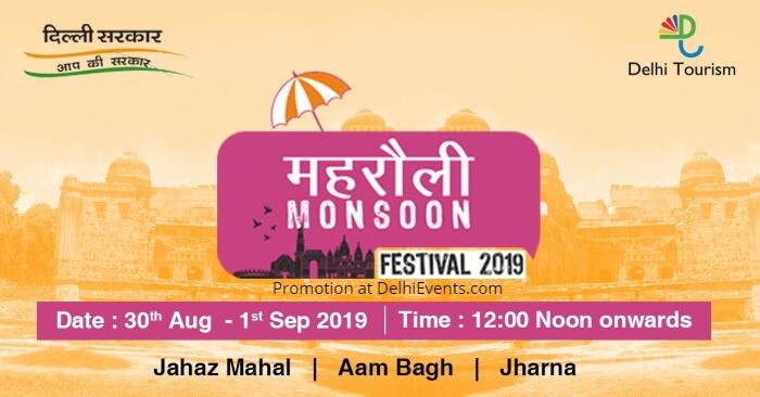 Delhi Tourism Mehrauli Monsoon Festival 2019 Creative