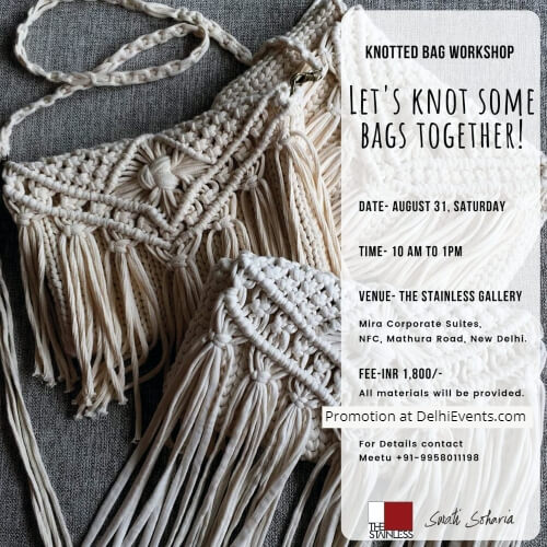 Knotted Bag Making Workshop Stainless Art Gallery Creative