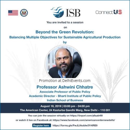 Beyond Green Revolution Prof. Ashwini Chhatre American Center Creative