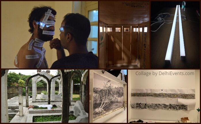 Dharti Arts Residency Open Studio Exhibition Collage