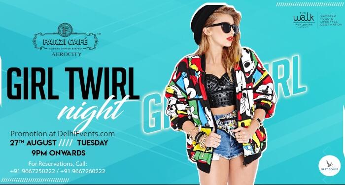 Girl Twirl Night Farzi Cafe Aerocity Creative