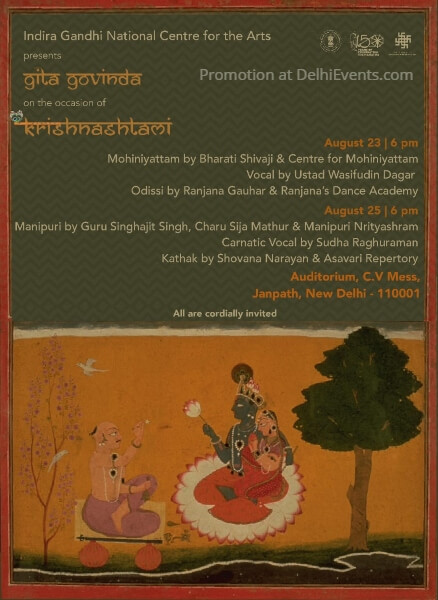 Gita Govinda dance music festival occasion Krishnashtami IGNCA Creative