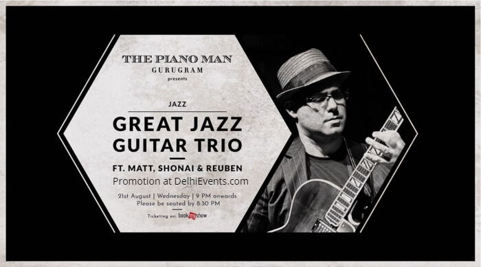 Great Jazz Guitar Trio Matt Shonai Reuben Piano Man Creative