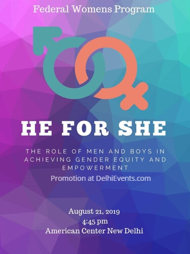 He She Role Men Boys Play Gender Equity Empowerment American Center Creative