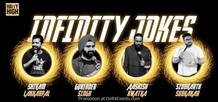 Infinity Jokes Standup Gurinder Singh Siddharth Michael Sudhakar Ashish Kwatra Shivam Lakhanpal Happy High Creative