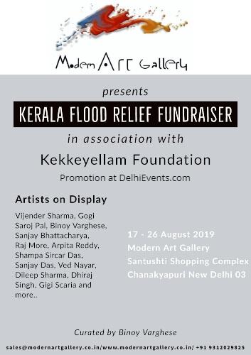 Kerala Flood Relief Fundraiser Kekkeyellam Foundation Modern Art Gallery Exhibition Creative