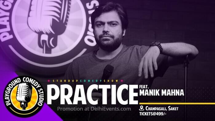 Practice standup Manik Mahna Playground Comedy Studio Creative