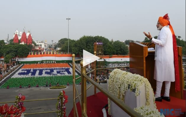 Prime Minister India Shri Narendra Modi Red Fort 15th August