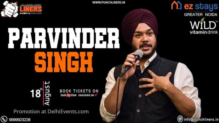 Punchliners standup Parvinder Singh EZ Stays Kamal House Creative