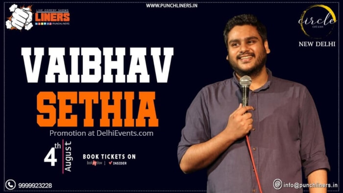 Punchliners standup Vaibhav Sethia Circle Cafe Bar Creative