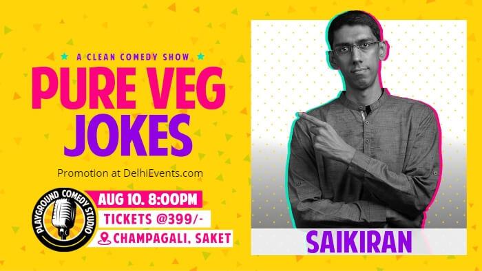 Pure Veg Jokes standup Saikiran Rayaprolu Playground Comedy Studio Creative
