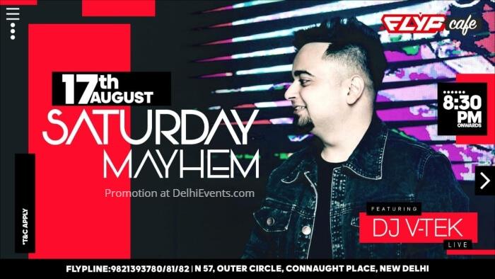 Saturday Mayhem DJ VTEK Flyp Cafe Creative