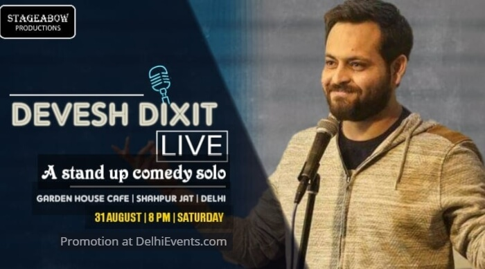 Stageabow Productions Standup Devesh Dixit Garden House Cafe Creative