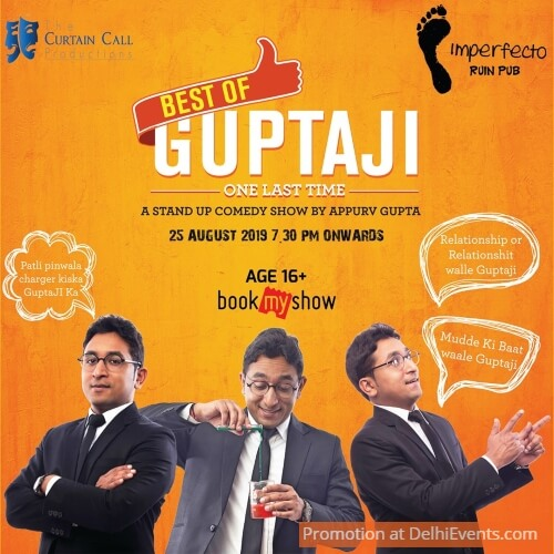 Standup comedy Appurv Gupta Imperfecto Ruin Pub Creative