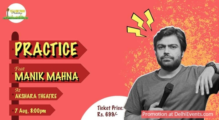 Yellow Yard Productions Practice Standup Manik Mahna Akshara Theatre Creative