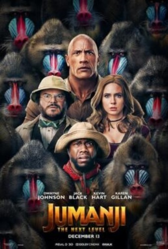 Jumanji Next Level Dwayne Johnson Jack Black Kevin Hart Creative