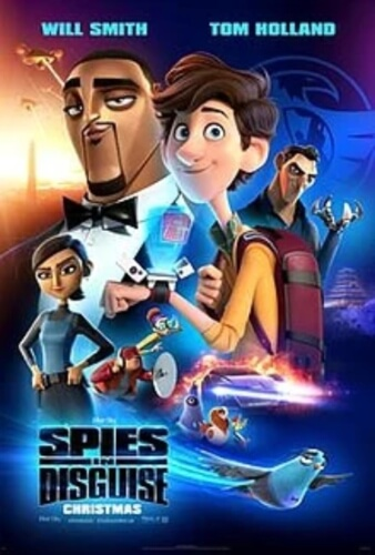 Spies Disguise Animation Voice Over Will Smith tom Holland  Rashida Jones Film Poster