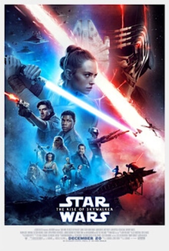 Star Wars Rise Skywalker Carrie Fisher Mark Hamill Adam Driver Poster