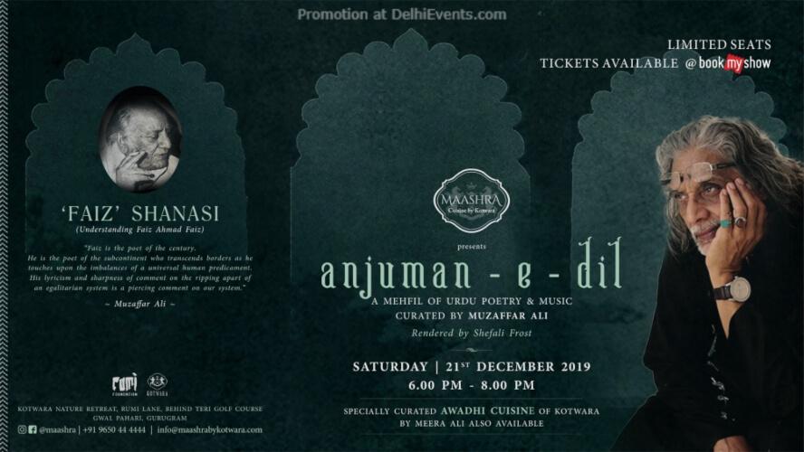 Anjuman E Dil – Ghazal Shanasi Muzaffar Ali Maashra Gwalpahari Gurugram Creative