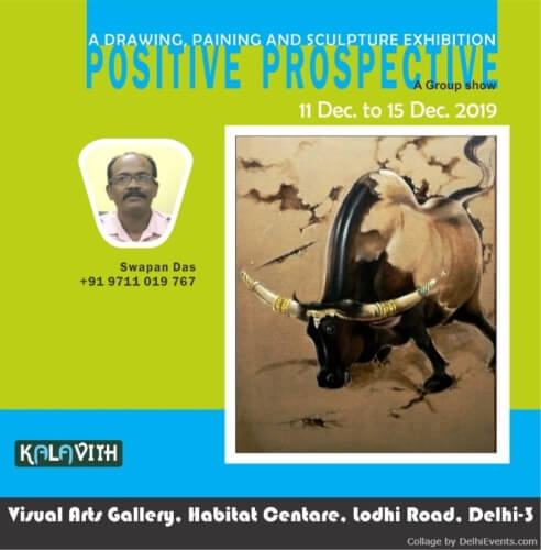 Positive Prospective Group Show Drawing Painting Sculpture Swapan Das India Habitat Centre Lodhi Road Creative