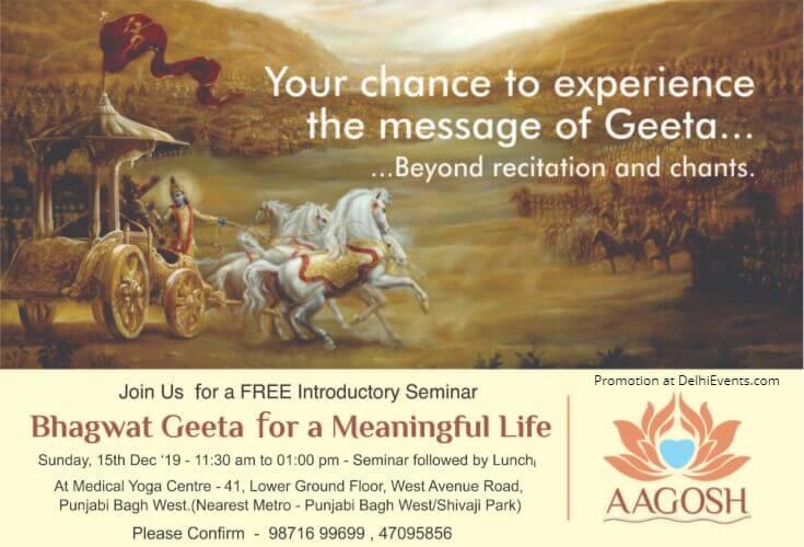 Bhagwat Geeta Meaningful Life Deepak Sachdeva Medical Yoga Centre West Punjabi Bagh Creative
