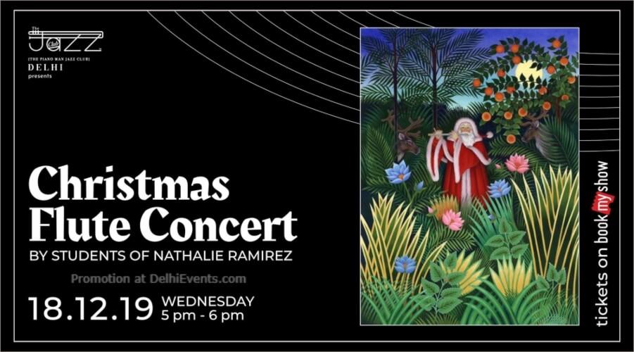 Christmas Flute Concert Students Nathalie Ramirez Piano Man Jazz Club Safdarjung Enclave Creative