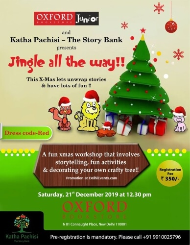 Katha Pachisi Story Bank Christmas Storytelling Session Oxford Bookstore CP Creative