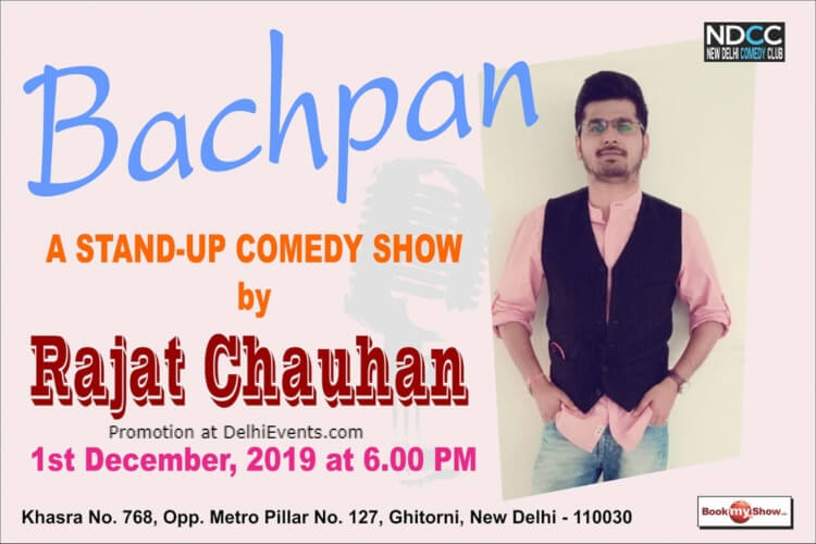 Bachpan Standup Comedy Rajat Chauhan Atelier Centre Arts Ghitorni Creative