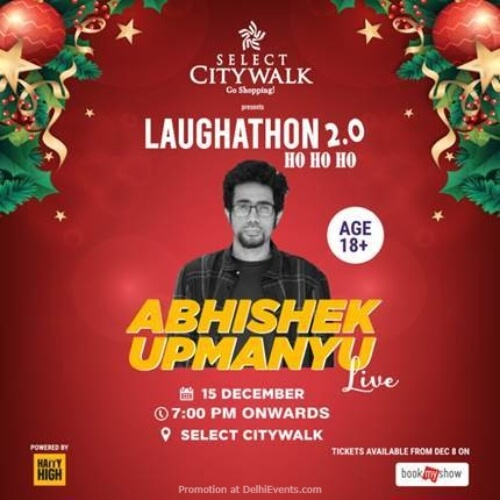 Laugh It Out Standup Comedy Abhishek Upmanyu Select Citywalk Saket Creative