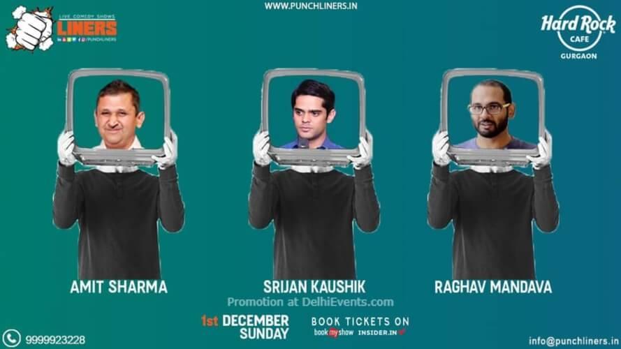 Standup Comedy Amit Srijan Raghav Hard Rock Cafe Gurugram Creative