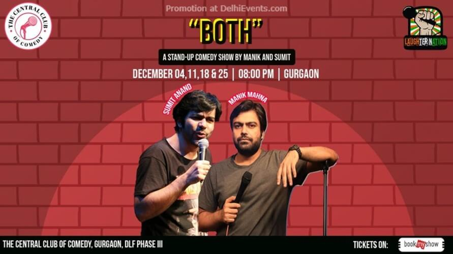 Both Standup Comedy Manik Sumit Dribble Cafe Gurugram Creative